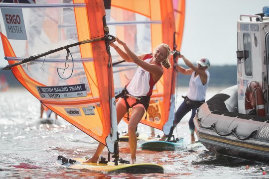 Olympic Sailing: British windsurfer Emma Wilson claims first world championship medal