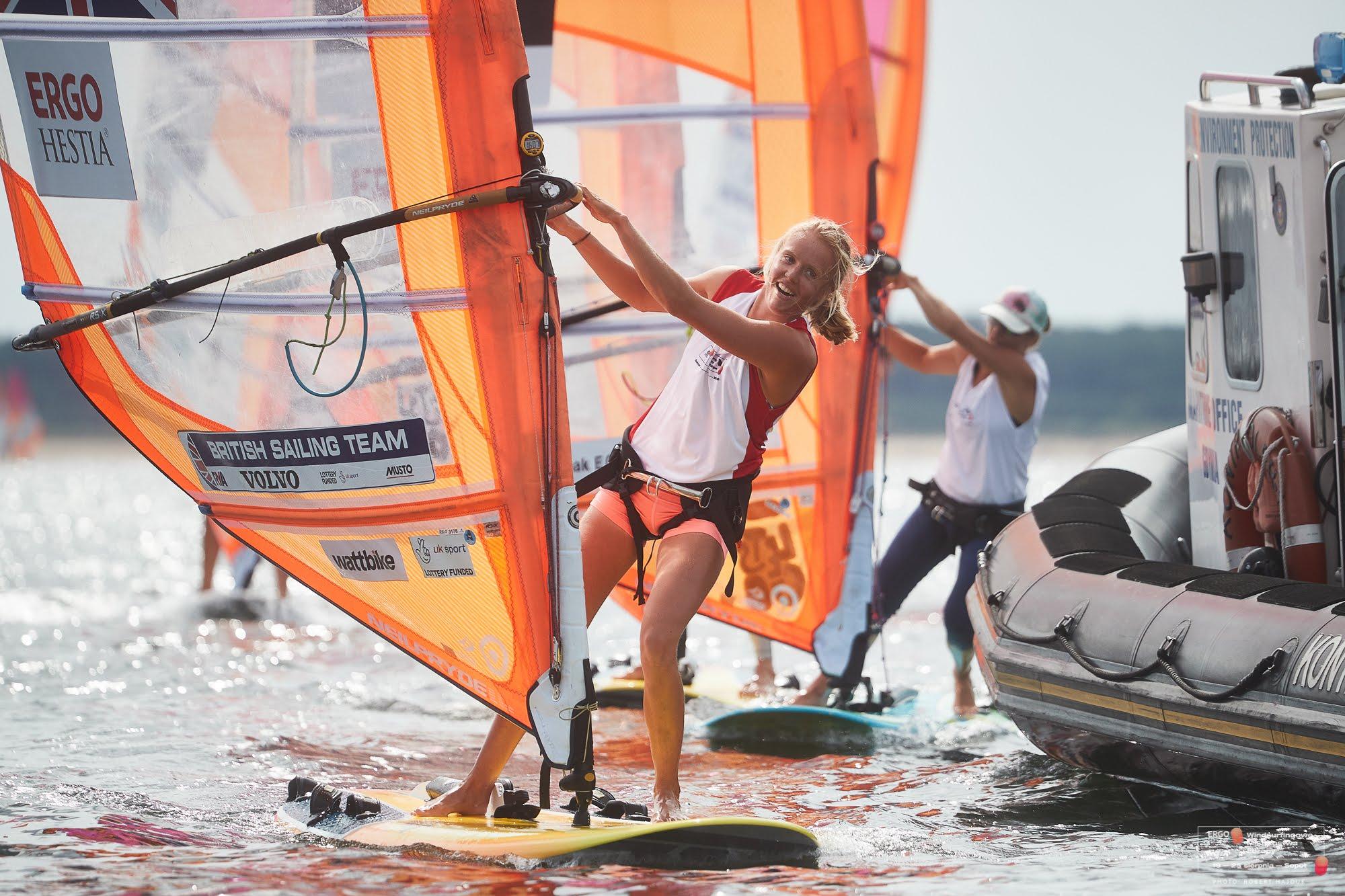 Olympic Sailing: British windsurfer Emma Wilson claims first world championship medal