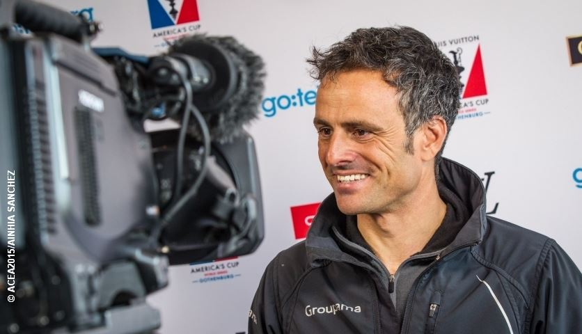 Franck Cammas at 35th America's Cup