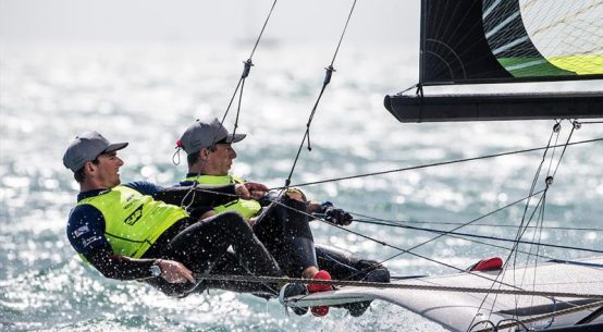 Olympic sailing: Video profile of leading British 49er pair Dylan Fletcher-Scott & Stuart Bithell