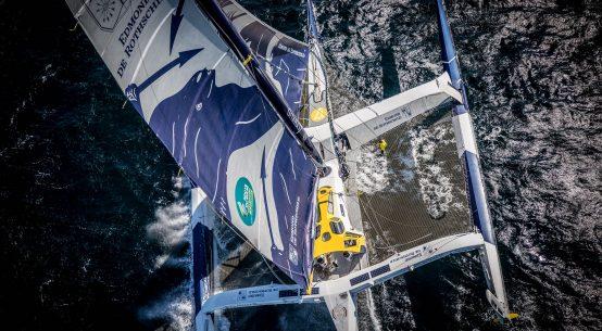 Gitana Team Ultim skipper Sébastien Josse goes kite foiling.