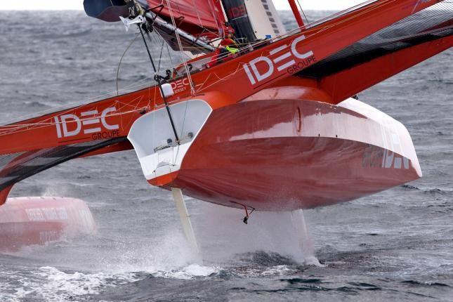 On board IDEC with Francis Joyon