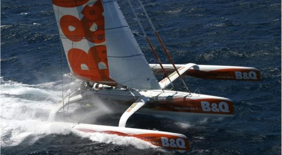 Ellen MacArthur's record breaking trimaran returns