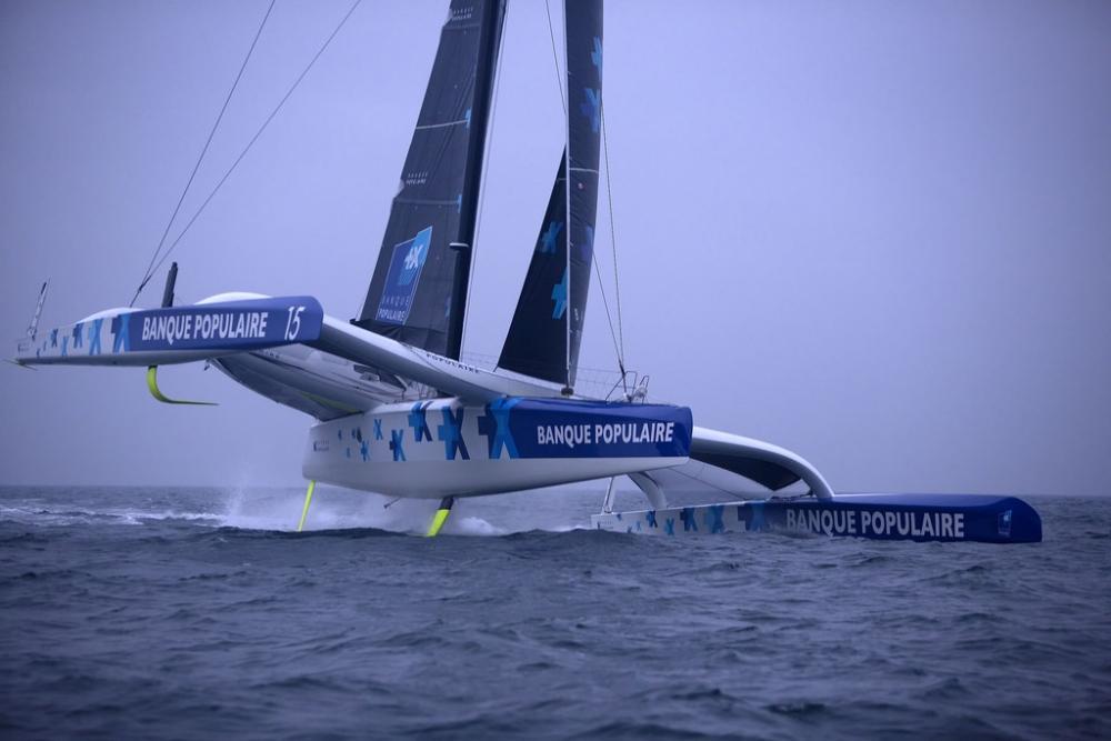 Route du Rhum: Ultim Banque Populaire capsizes