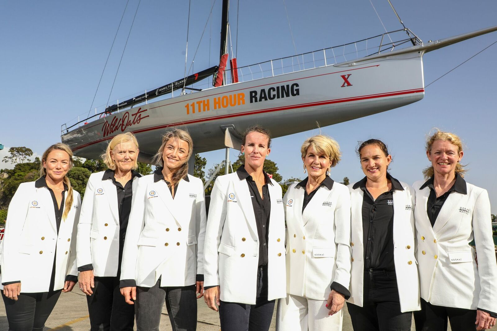 First all-female pro crew for Rolex Sydney Hobart Yacht Race. Photo credit: Salty Dingo/Ocean Respect Racing.
