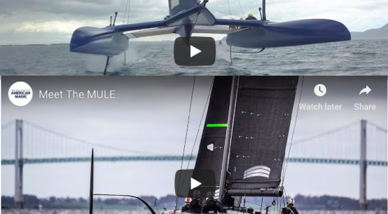 US America's Cup challenger American Magic get to grips with their test boat, while down in New Zealand United States SailGP Team's embedded media man Matt Knighton pulls off a daring