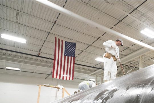 Stars & Stripes Team USA reveal America's Cup boat builder