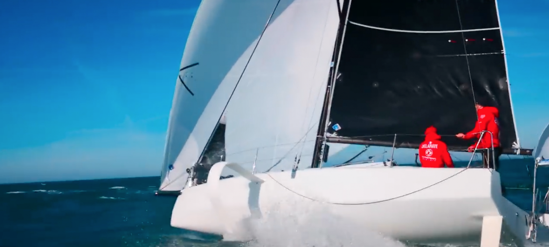 Video: Figaro 3 downwind training in France