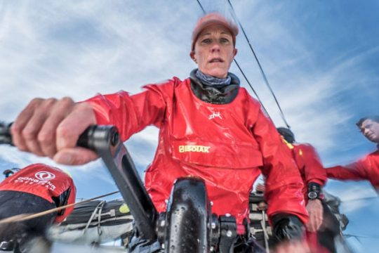 The woman steering towards America's Cup history