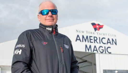 Justin Chisholm gets an update from American Magic skipper Terry Hutchinson on the US team's campaign to win back the America's Cup.