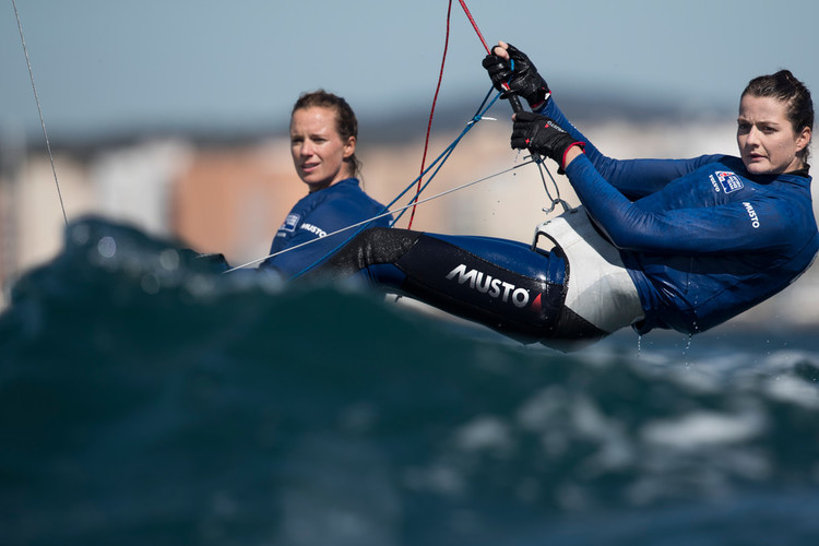 Olympic sailing: British Olympic champions aim for European 470 title.